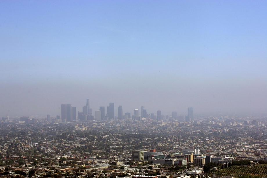 The view of the downtown Los Angeles skyline is seen from the Griffith Observatory in Los Angeles on May 22, 2012.