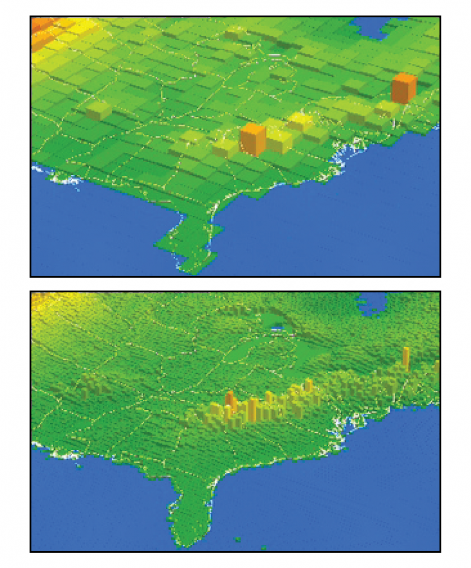 Figure A1.2: Example of Increasing Spatial Resolution of Climate Models
